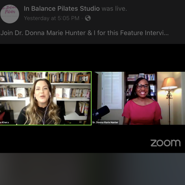 Feature Interview with Dr. Donna Marie Hunter & Lisa Khera